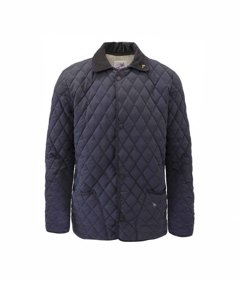 Rag Soft Touch Quilted Jacket - Navy/Sable