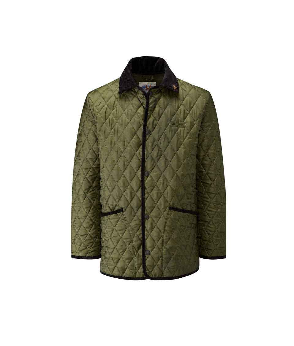 Rag Quilted Jacket - Olive/Black