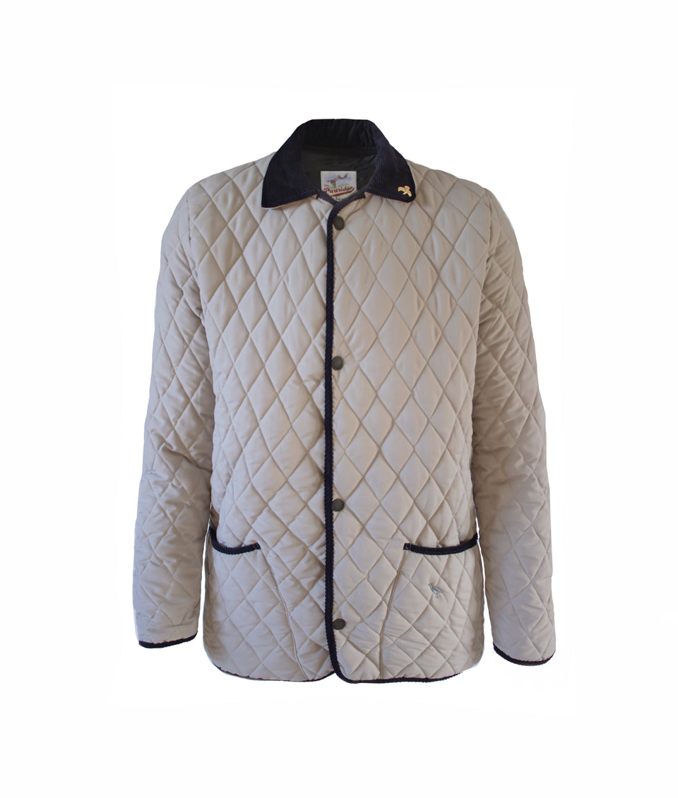 Rag Soft Touch Quilted Jacket - Sable/Navy