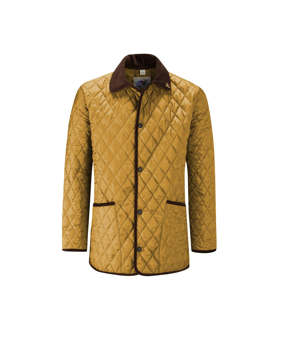 Rag Quilted Jacket - Sand/Petrol