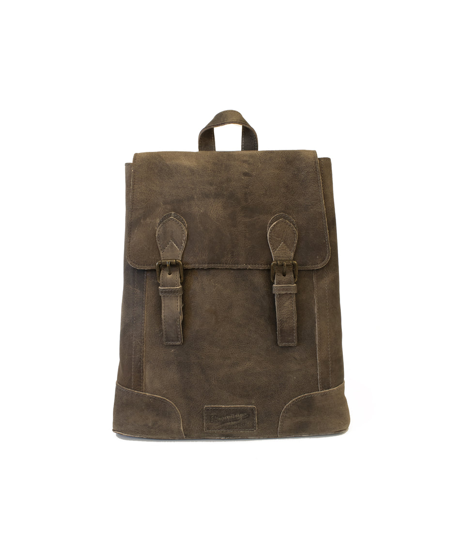 Leather Rucksack - Mud
