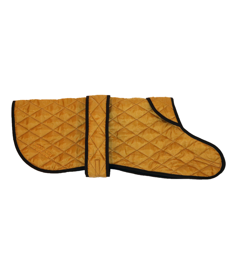 Sand gold quilted dog coat