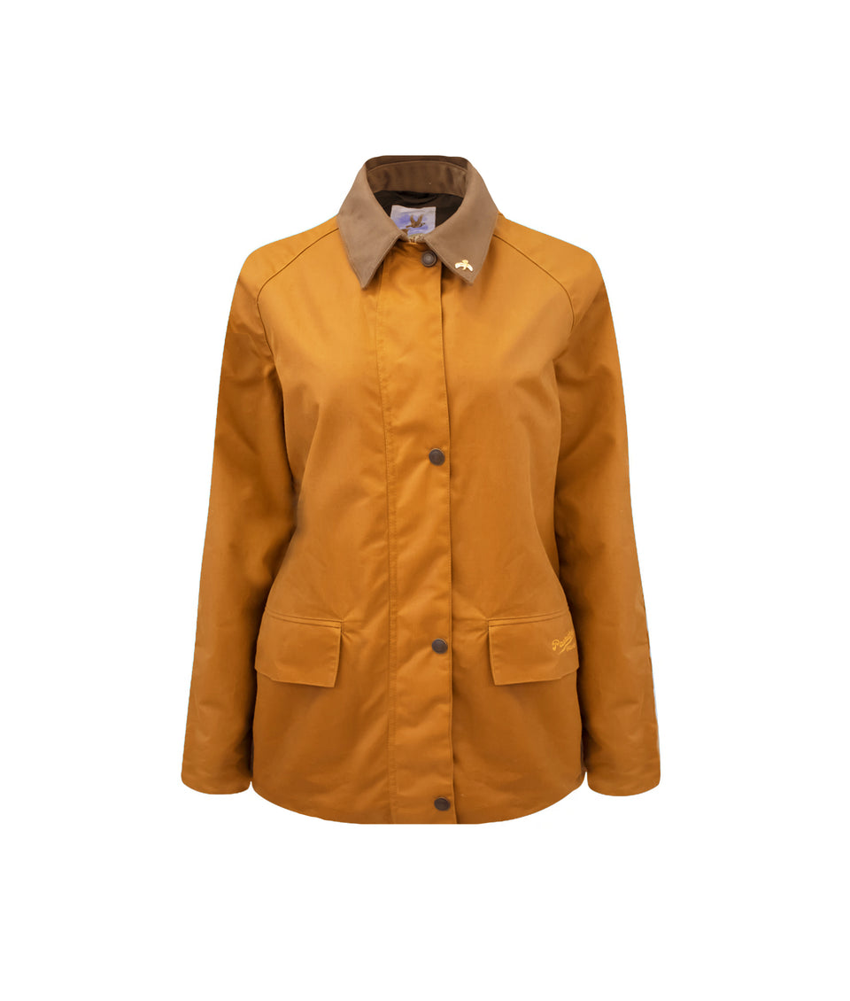Ladies Bold Landowner Wax Walking Jacket - Sand