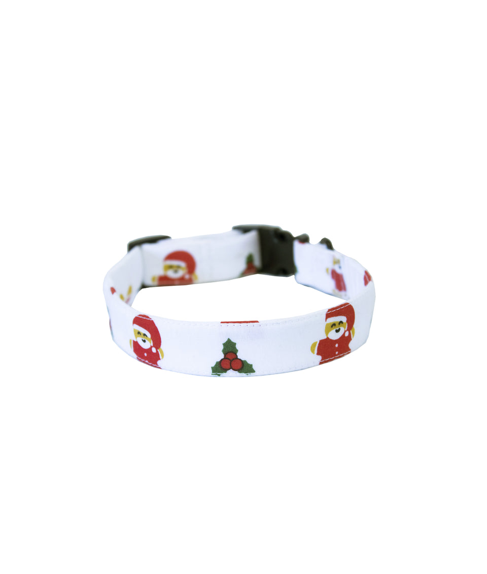 Dog Christmas Collar - Santa and Gingerbread man