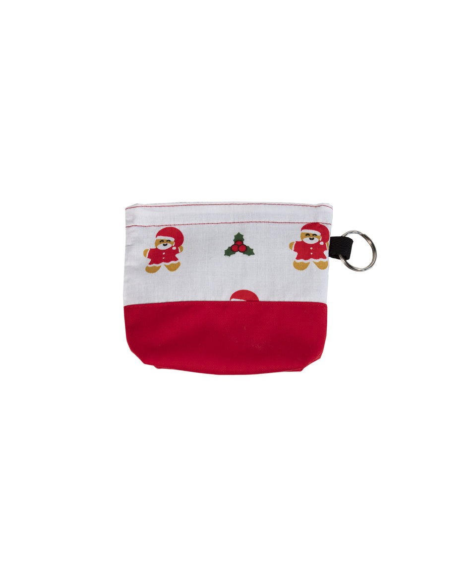 Dog Christmas Treat Pouch - Santa and Gingerbread man