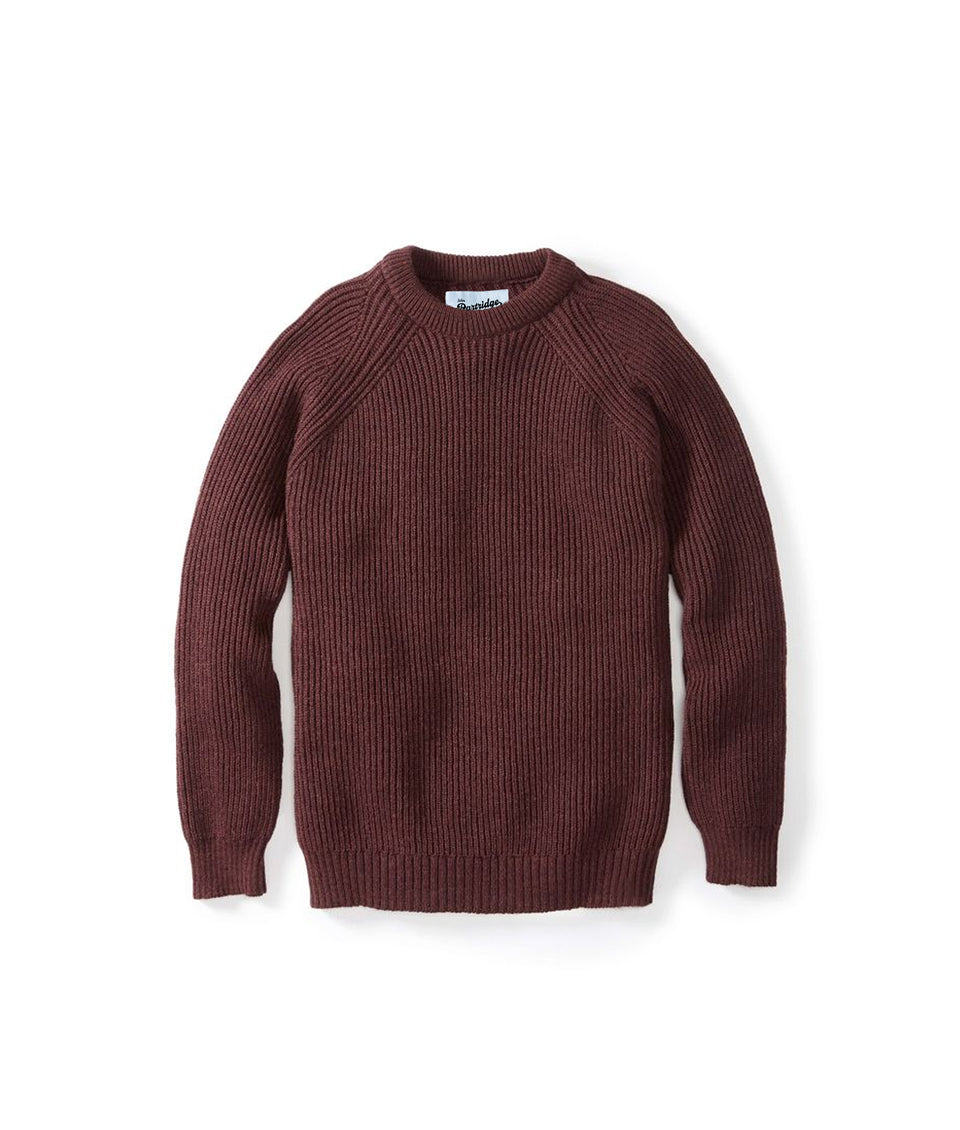 Merino Crew Neck Jumper - Shiraz