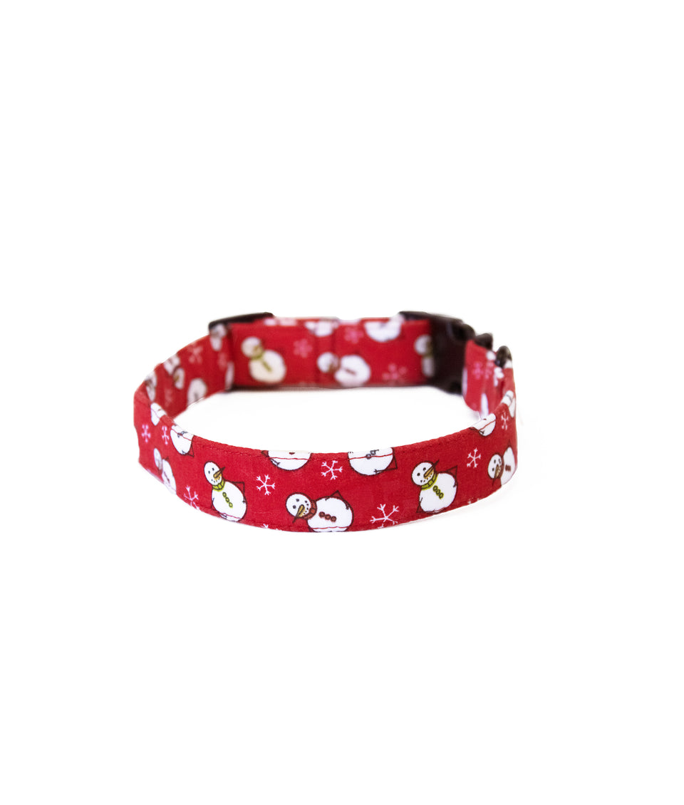 Dog Christmas Collar  - Snowman
