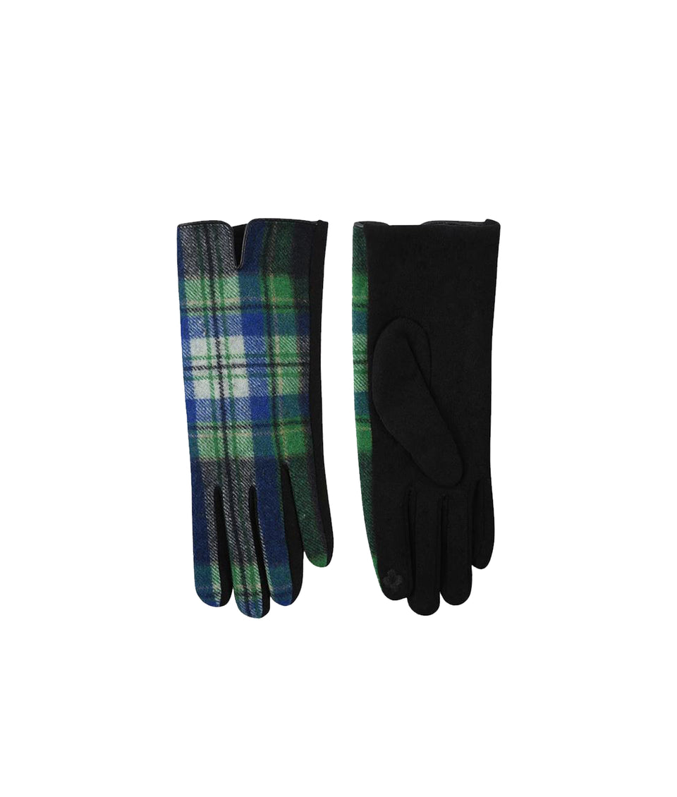 Gloves - Blue Grey Tartan
