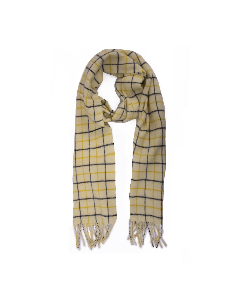 Lambswool Scarf - Tattersall Check