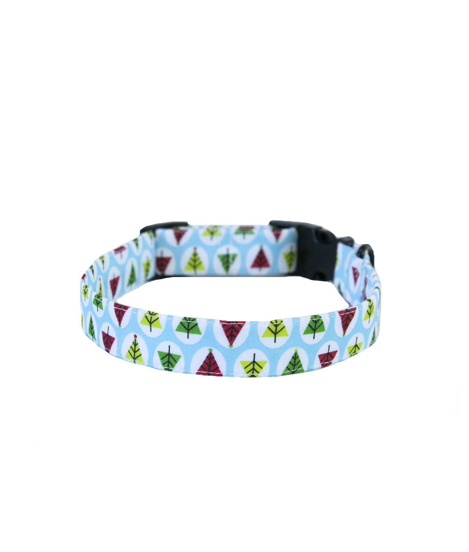 Dog Christmas Collar - Trees