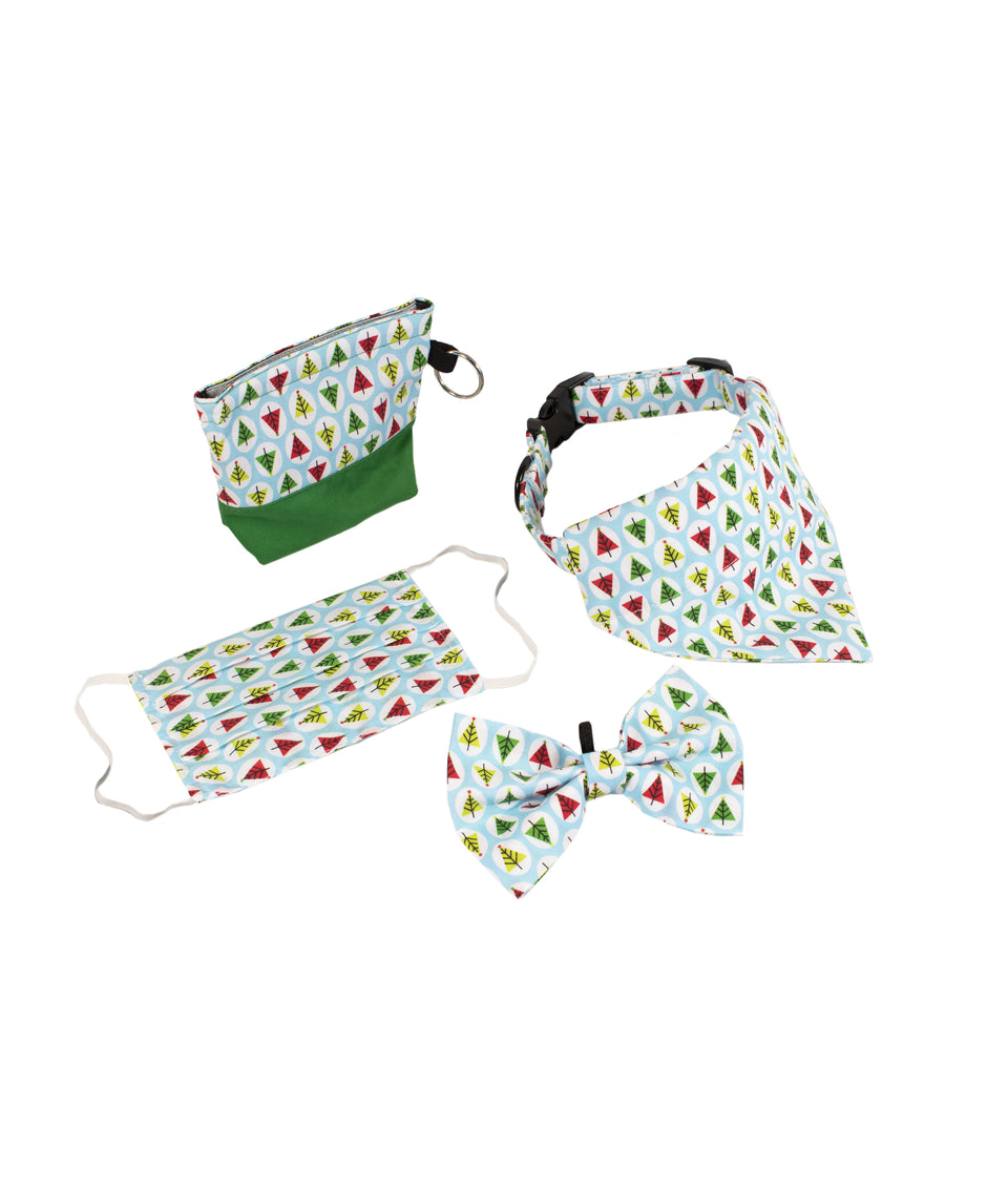 Dog Accessories Christmas Gift Set - Trees