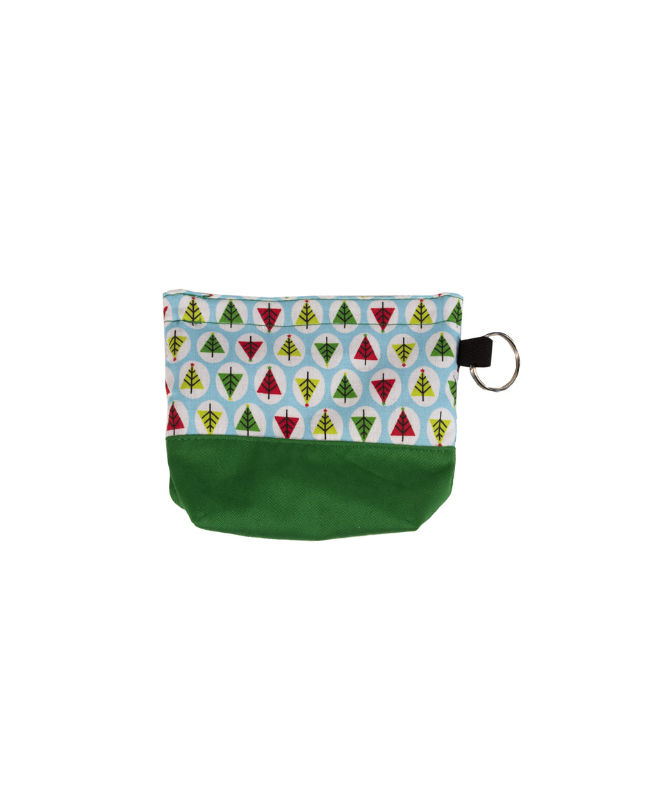 Dog Christmas Treat Pouch - Trees