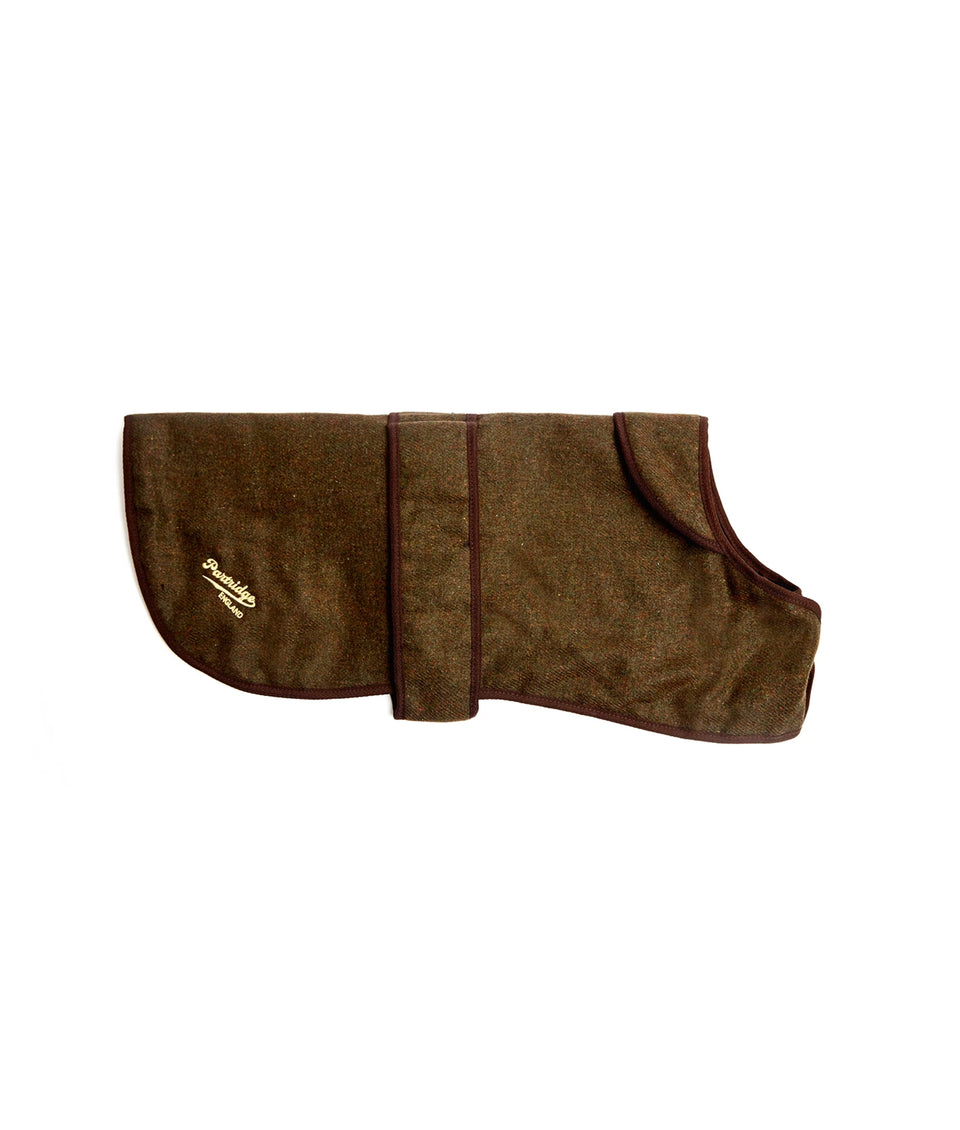 Dog Coat - Dark Green Tweed