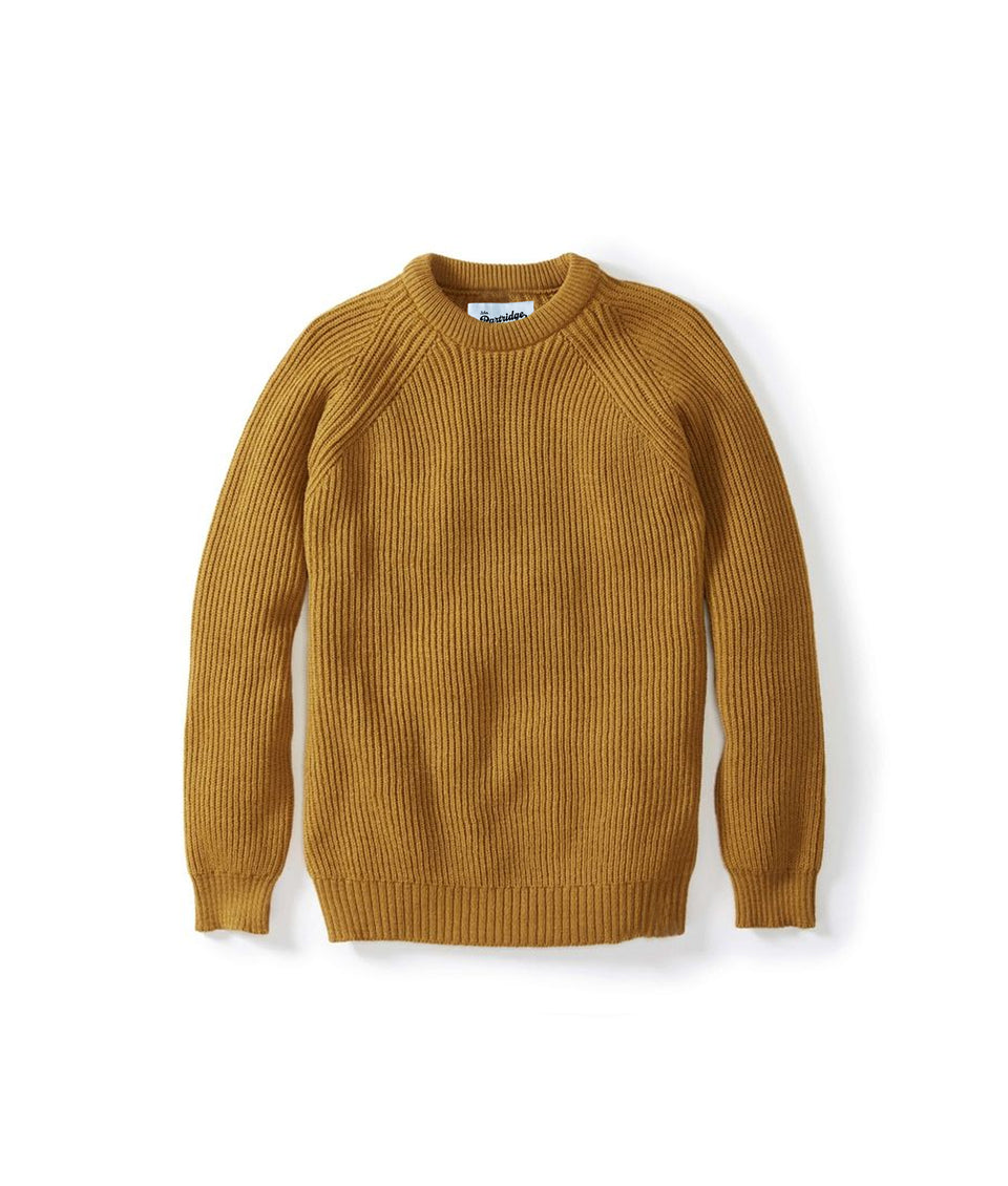 Merino Crew Neck Jumper - Wheat