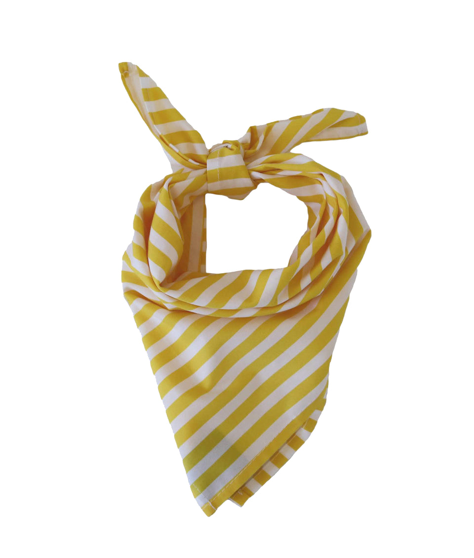 Bandana - Yellow Beach Stripe