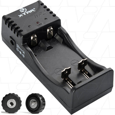 Picture of XTAR WP2 Lithium Ion Battery Charger with USB output