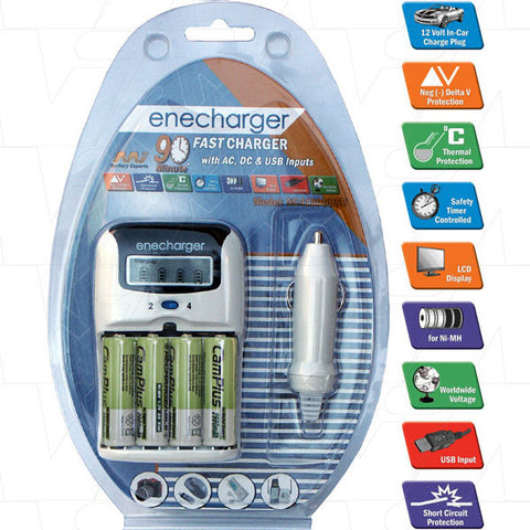 Picture of Enecharger fast charger with AC, DC and USB inputs