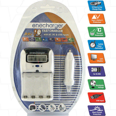Picture of Enecharger Fast Charger - 4 x AA & AAA battery charger