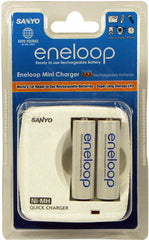 Sanyo 2 x AA/AAA cell battery quick charger