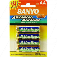 Sanyo Alkaline AA Battery - Cylindrical Cell