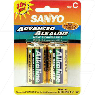 Picture of Sanyo Alkaline C Battery - Cylindrical Cell