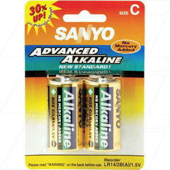 Sanyo Alkaline C Battery - Cylindrical Cell