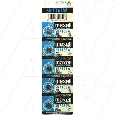 Picture of Maxell SR716SW watch battery