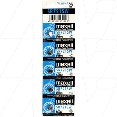 Picture of Maxell SR721SW Watch Battery