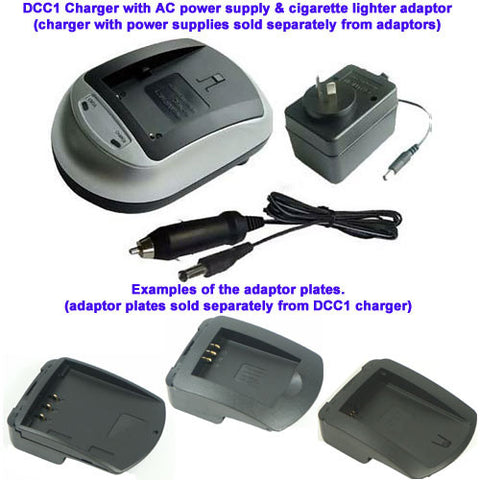 Picture of CAMERA BATTERY CHARGER ADAPTOR PLATE FOR FUJIFILM NP-80, NP-100, JVC BN-V101, KODAK KLIC-3000