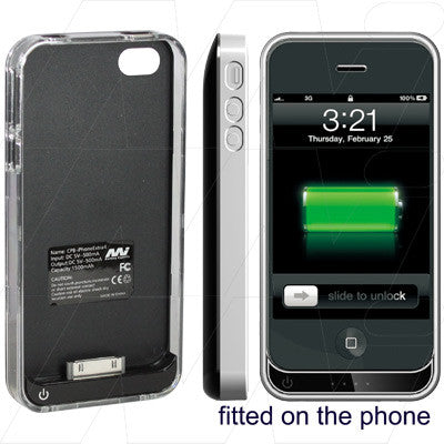 Picture of ULTRA-THIN ULTRA-LIGHT EXTERNAL BATTERY FOR IPHONE , IPHONE 4S