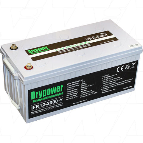 Picture of Drypower 12.8V 200Ah Lithium Iron Phosphate (LiFePO4)