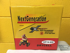 Next Generation Extreme AGM Motorcycle Battery XP14-BS