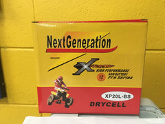 Next Generation Extreme AGM Motorcycle Battery XP20L-BS
