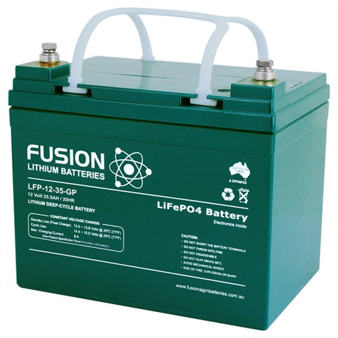 Picture of Lithium ION (LiFePO4) Fusion Ultralite 12v 35AH Deep Cycle Battery