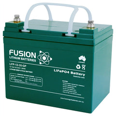 Lithium ION (LiFePO4) Fusion Ultralite 12v 35AH Deep Cycle Battery