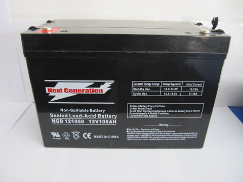 Picture of Next Generation Deep Cycle 12V 105AH Sealed Lead Acid AGM Battery