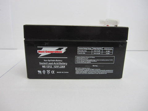 Picture of Next Generation 12V 1.2AH Sealed Lead Acid AGM Battery