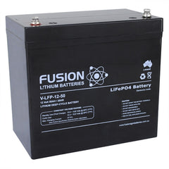 Lithium ION (LiFePo4) Fusion 12v 50AH Deep Cycle Battery