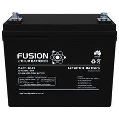 Lithium ION (LifePo4) Fusion 12V 75AH Deep Cycle Battery