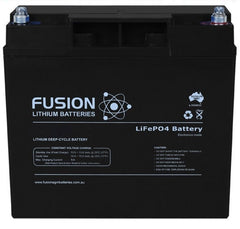Lithium ION (LiFePO4) Fusion 12V 20AH Deep Cycle Battery