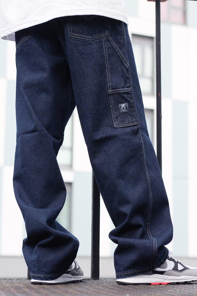 379 Carpenter Loose Fit Denim Jeans (Dark Blue Indigo)