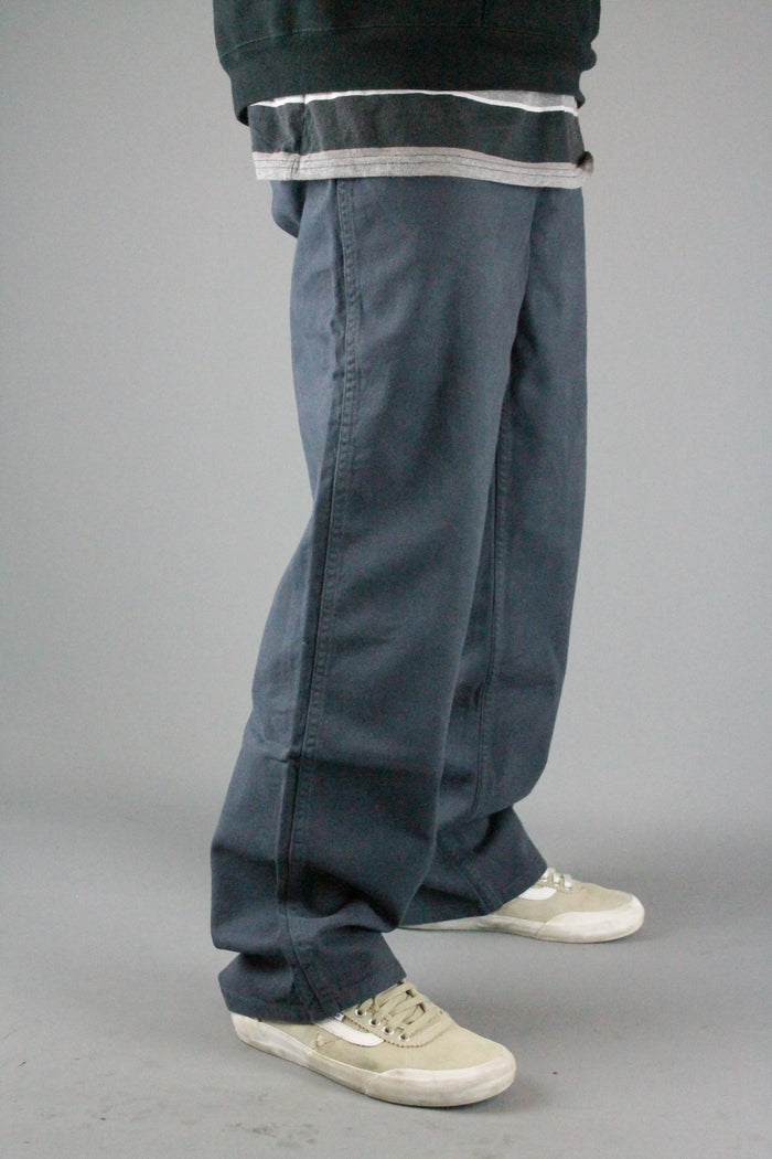BD001 Loose Fit Chino Jean Pants (Anthracite Grey)