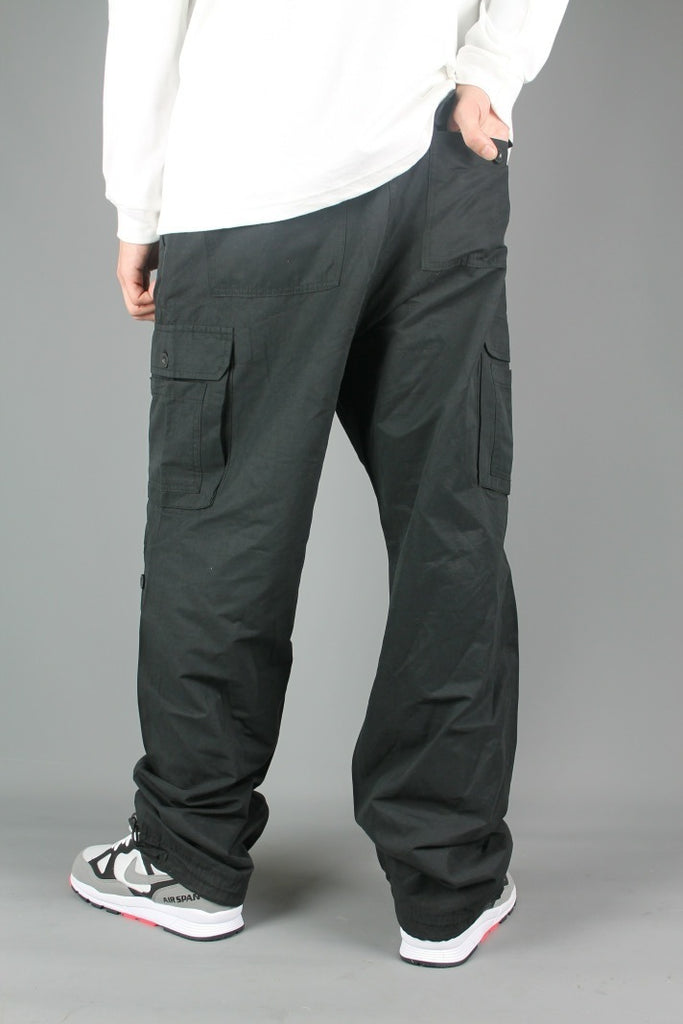 BL129 Loose Fit Cargo Pants (Black)