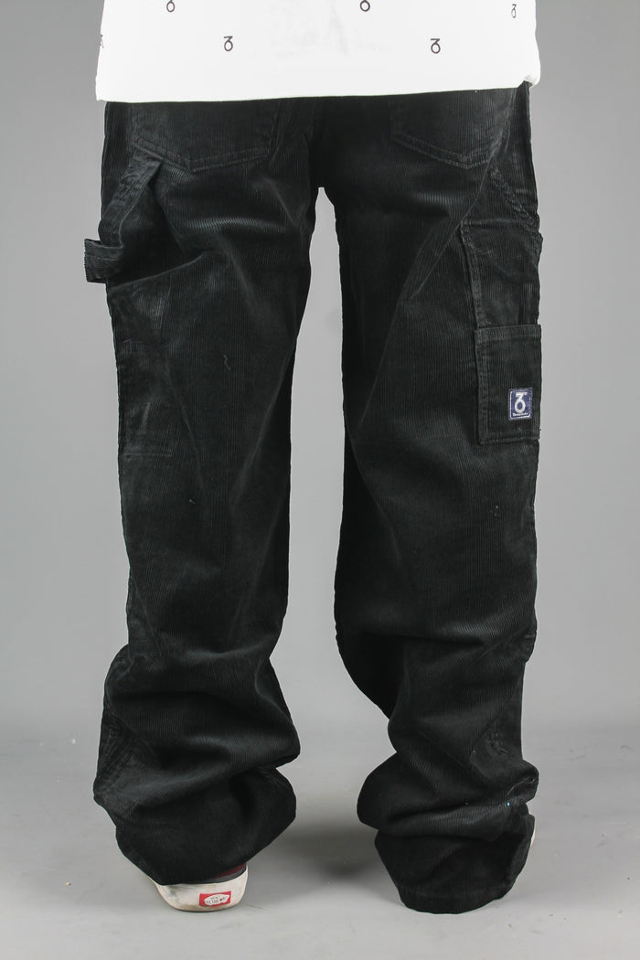 Carpenter Loose Fit Cord Trousers (Black)