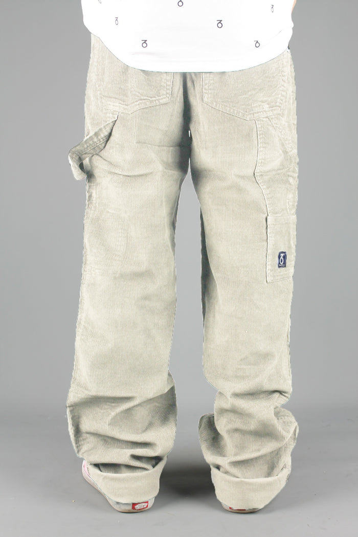 Carpenter Loose Fit Cord Trousers (Cream)