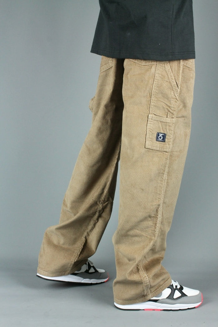 Carpenter Loose Fit Cord Trousers (Dark Beige)