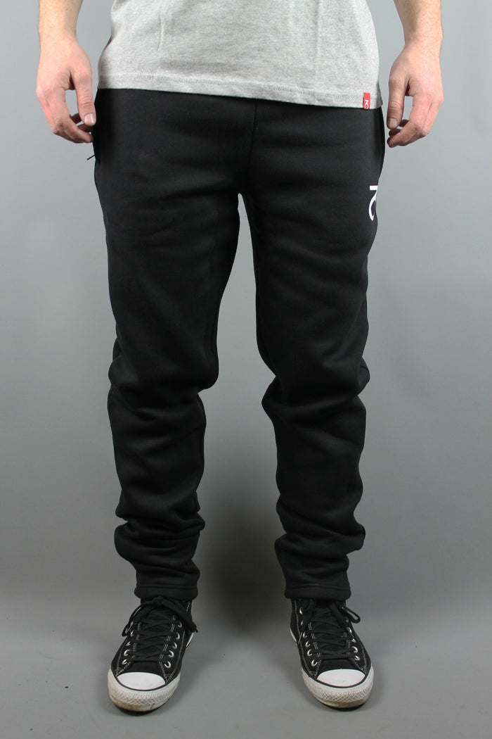 Core Logo Slim Tapered Joggers (Black)