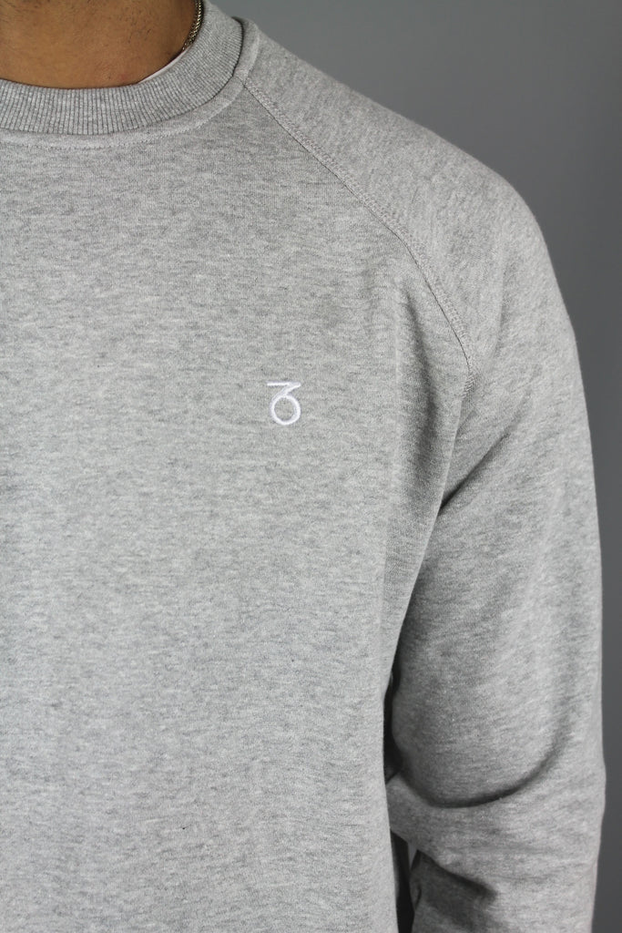 Essential Open Hem Sweatshirt (Heather Grey)