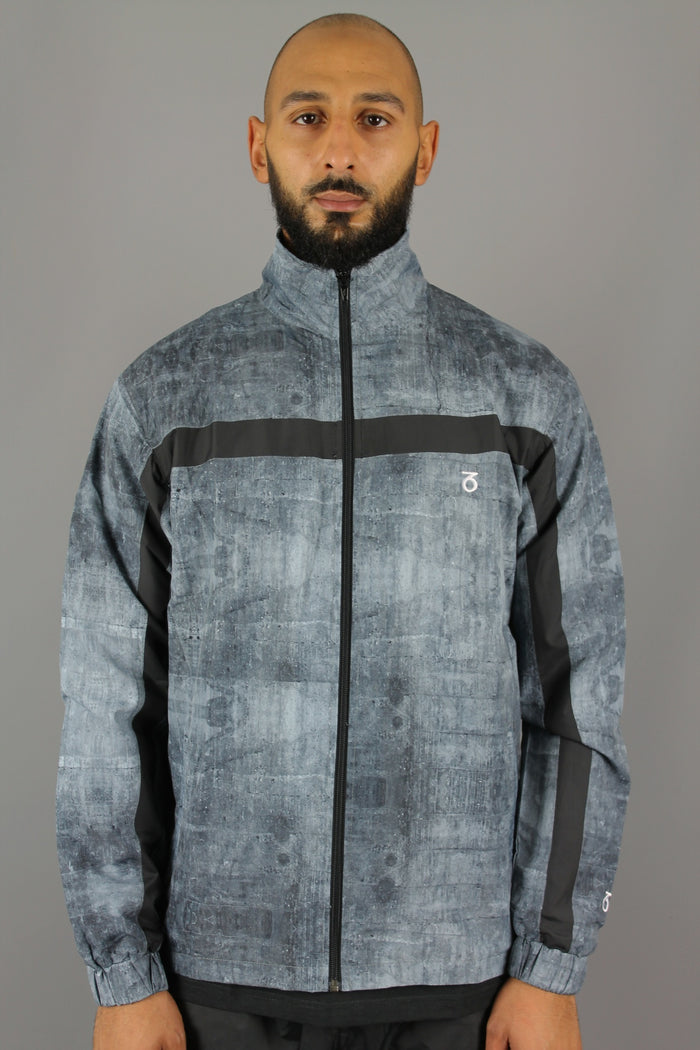 Block Track Jacket (Cement/Black)