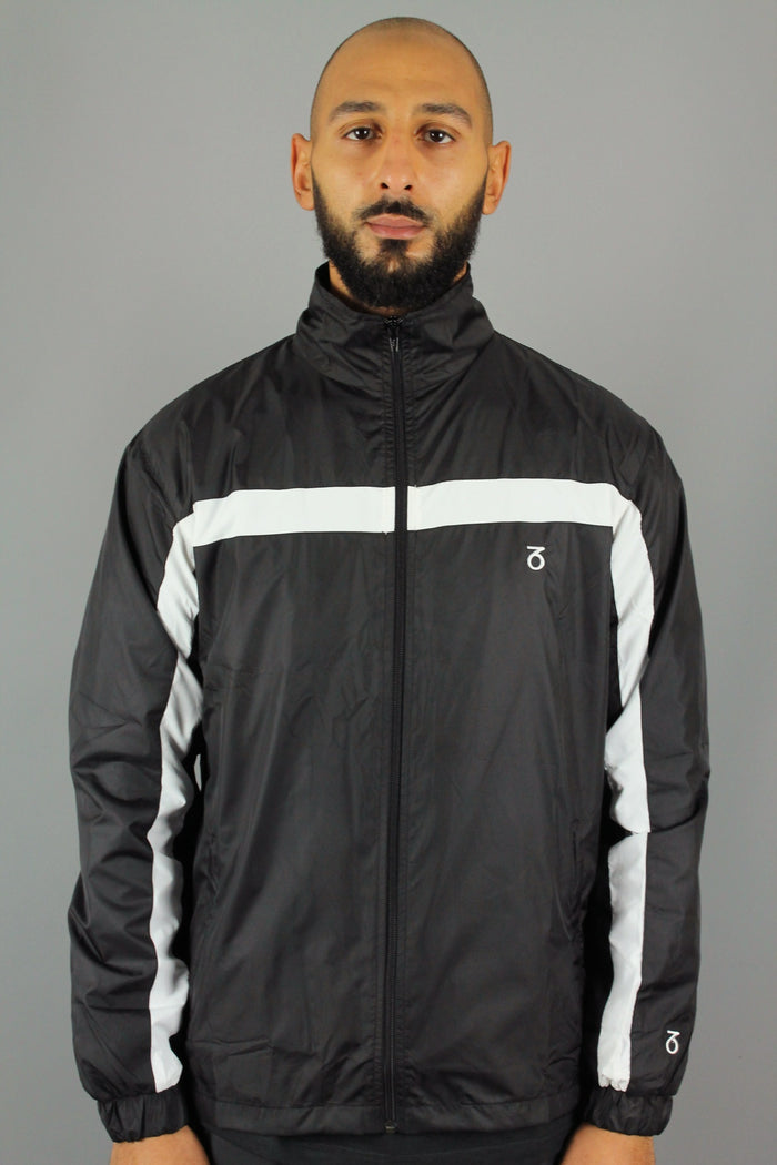 Block Track Jacket (Black/White)